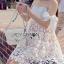 Lady Maria Sweet Sexy Stripy Ribbon Lace Dress L258-7903 thumbnail 2