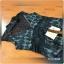 Mini Dressแขนกุดเนื้อผ้าซีทรูสีดำปักลายดอกไม้ thumbnail 6