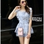 Lady Sophie Sweet Casual Baby Blue Lace Top and Shirts Set L251-89C02 thumbnail 7