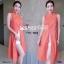 Set 2 ชิ้น เสื้อตัวยาวคอปีน แขนกุดผ่าหน้า ผ้าพิมพ์ลายไทย thumbnail 5