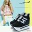 รองเท้าผ้าใบแบบผูกเชือก สูง 5 นิ้ว thumbnail 7