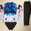 SM-V1-617 ชุดว่ายน้ำแขนยาว กางเกงสามส่วน เสื้อคัลเลอร์ฟูลสีสดใส เซ็ต 3 ชิ้น เสื้อ+บิกินี่+ขายาว thumbnail 5