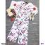 จั้มสูทคอวีขายาว งานผ้าโรนัลโด้ พิมพ์ลาย ดอกไม้ทั้งตัว thumbnail 5