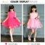 GD020 ชุดเดรสสีชมพูอ่อน ประดับดอกไม้ (เด็กโต) ชุดออกงานเด็กหญิง thumbnail 3