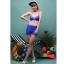 SM-V1-371 ชุดว่ายน้ำเซ็ต 4 ชิ้น สีน้ำเงินสวย บรา+บิกินี่ เสื้อคลุม+กางเกงขาสั้น thumbnail 5