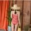 ชุดว่ายน้ำวันพีช สีแดงอมส้ม สวย thumbnail 4