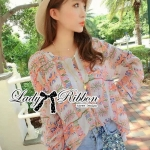 Lady Hayden Lisa Colourful Printed Basic Blouse L143-55A05