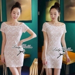 DR-LR-043 Lady Sophia Sexy and Romantic Style Lace Mini Dress