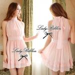 DR-LR-032 Lady Emina Sweet Pastel Sleeveless Dress