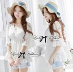 Lady Ray Sweet Feminine Lace Ruffle Blouse L157-65C13
