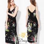 Daisy sexy flower paint dress