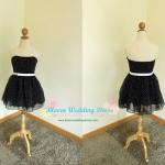 Polka Dot Dress with Bow Belt เกาะอกลายจุดสีดำ