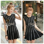 DS-PP-013 Set Cool Black&White Stripy Silk Wool