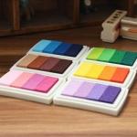 หมึก Crystal Craft Oil Based ink pad colorful