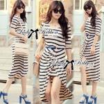 Jersey Stripe Slip Dress L231-69C10