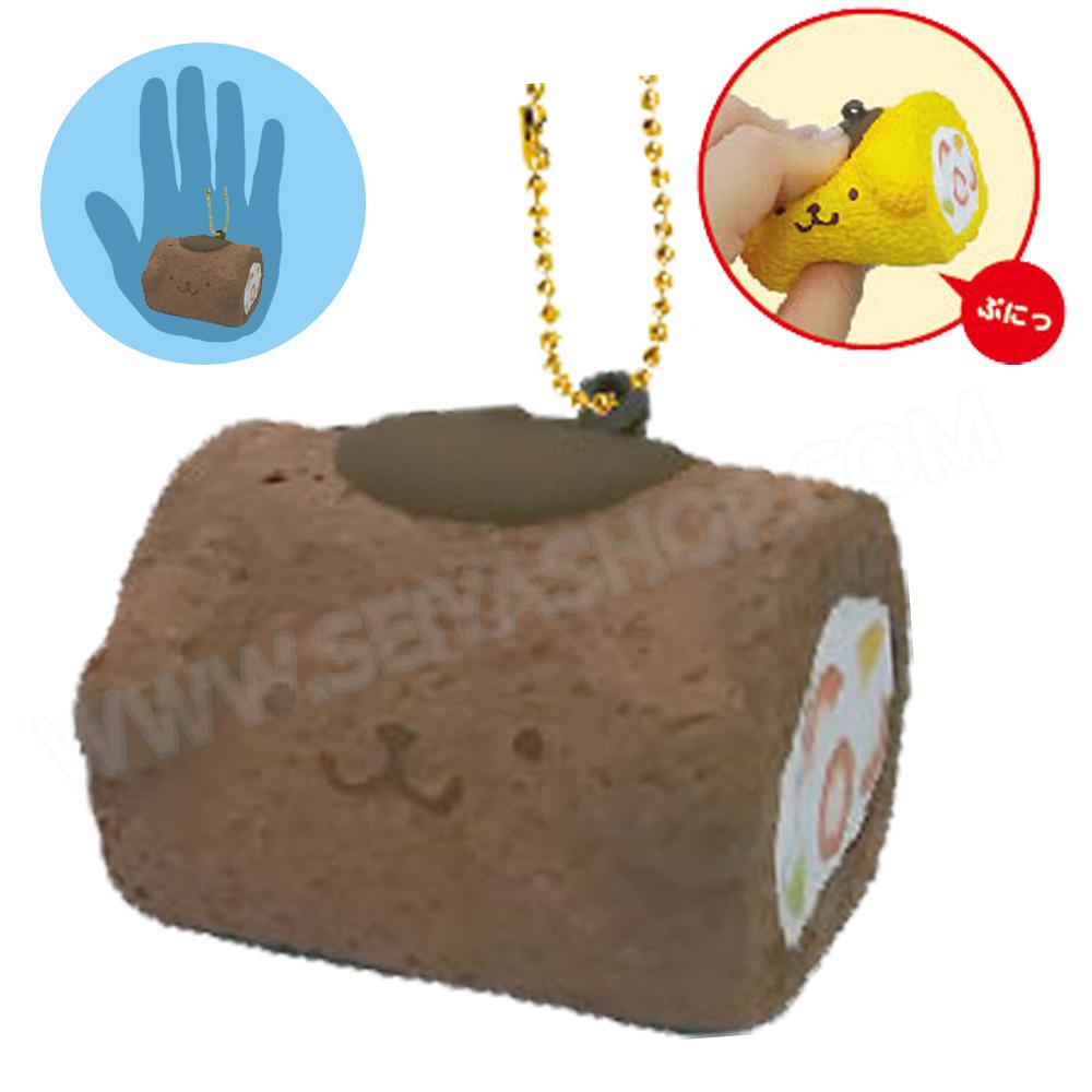 CA814 สกุชชี่ Pompompurin Yamroll ช๊อคโกแล๊ค ขนาด 5 cm (Soft) ลิขสิทธิ์แท้