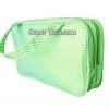 Clinique - กระเป๋าหูหิ้วสีเขียวลายเส้น