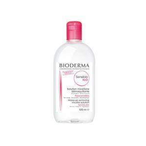Bioderma Sensibio H2O 500ml. ผลิตภัณฑ์เช็คเครื่องสำอาง สำหรับผิวแพ้ง่าย (ฝาชมพู)