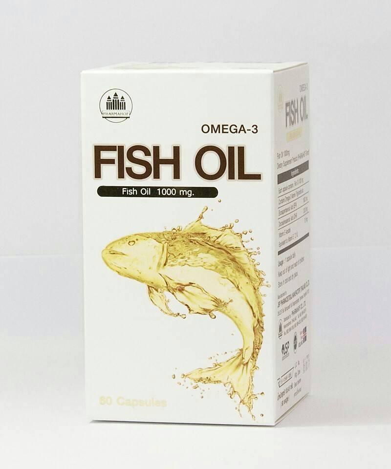 Fish oil Pharmahof 60 Capsules From LYSI, Iceland ธรรมชาติล้วนๆ Odourless ไม่มีกลิ่นคาว ไม่แต่งกลิ่น