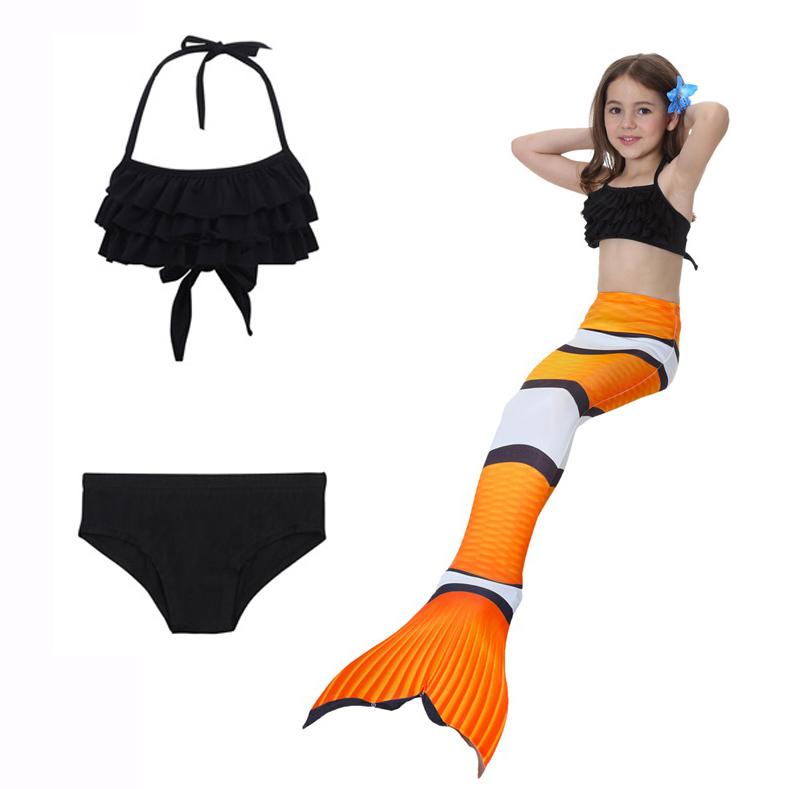 NF010 ชุดว่ายน้ำหางนางเหงือก หางปิด สามารถใส่ฟินได้ (ในชุดไม่รวมฟิน) 1 ชุด มี 3 ชิ้น