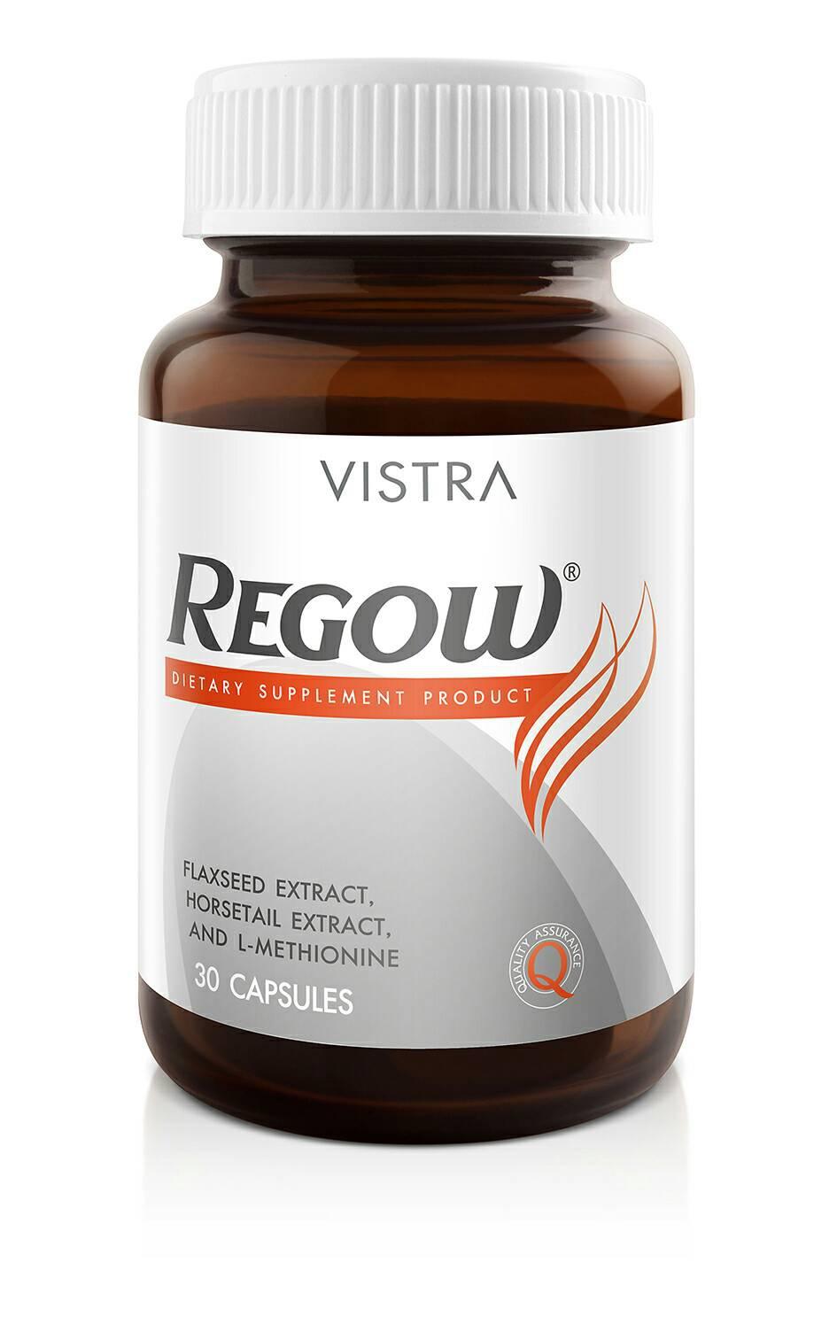 Vistra Regow วิสตร้า รีโกว์ 30 Capsules เพื่อสุขภาพผม ผิว เล็บ ที่แข็งแรง