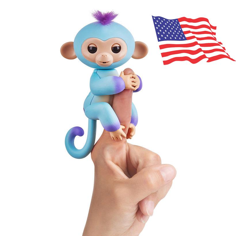 DA014 (ของแท้) wowwee Two Tone fingerling ตุ๊กตาลิง มีชีิวิต -สีฟ้า