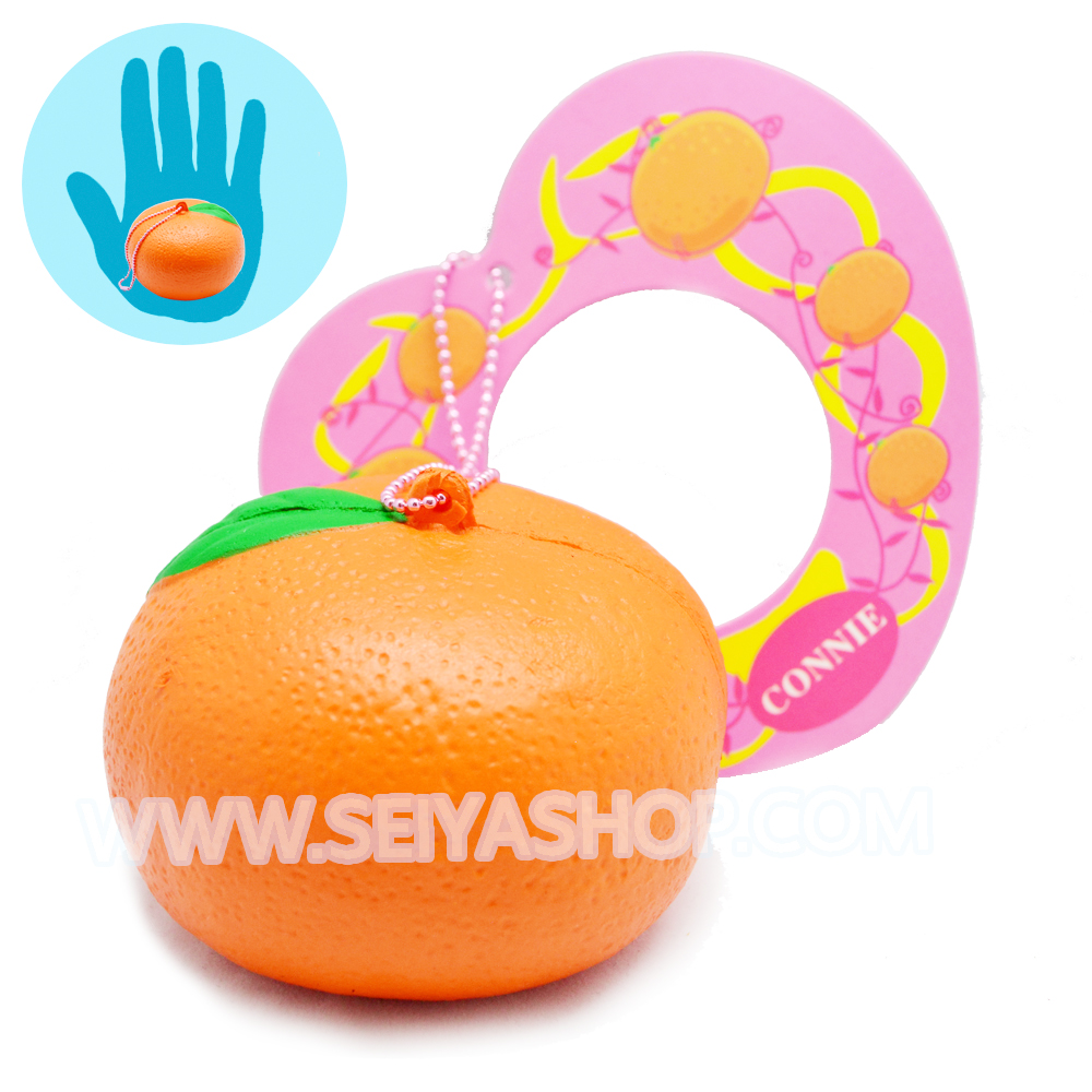 CA751 สกุชชี่ ส้ม CONNIE (super soft) ขนาด 7 cm ลิขสิทธิ์แท้