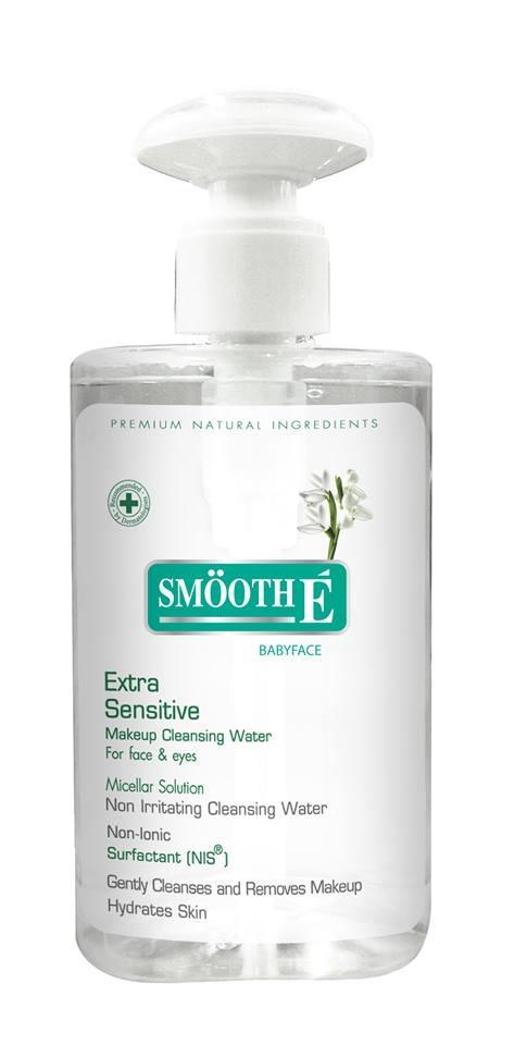 Smooth E Extra Sensitive Sensitive Makeup Cleansing Water 300ml.