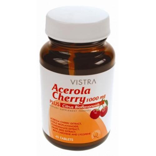 VISTRA Acerola Cherry 1000mg วิสทร้า อะเซโรลา เชอร์รี่ 1000mg (100's)