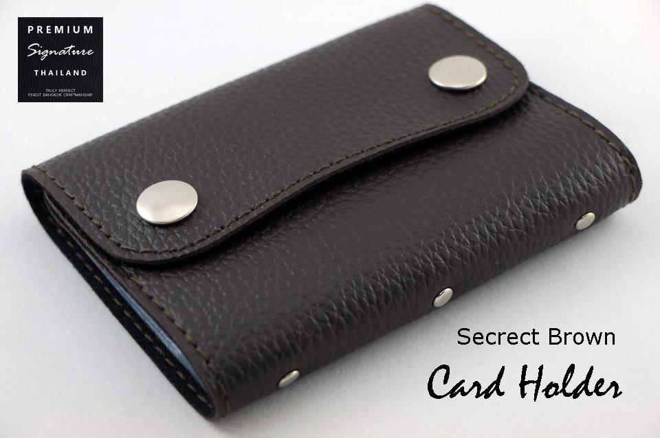 Secrect Brown(น้ำตาลเข้ม) - ฺCard Holder