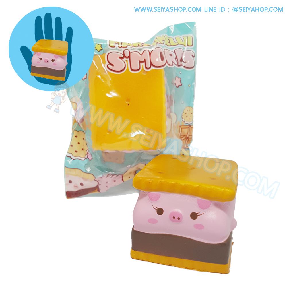 I434 สกุชชี่ Piggy (Woman) By Puni ขนาด 10 cm (Super Soft)ลิขสิทธิ์แท้