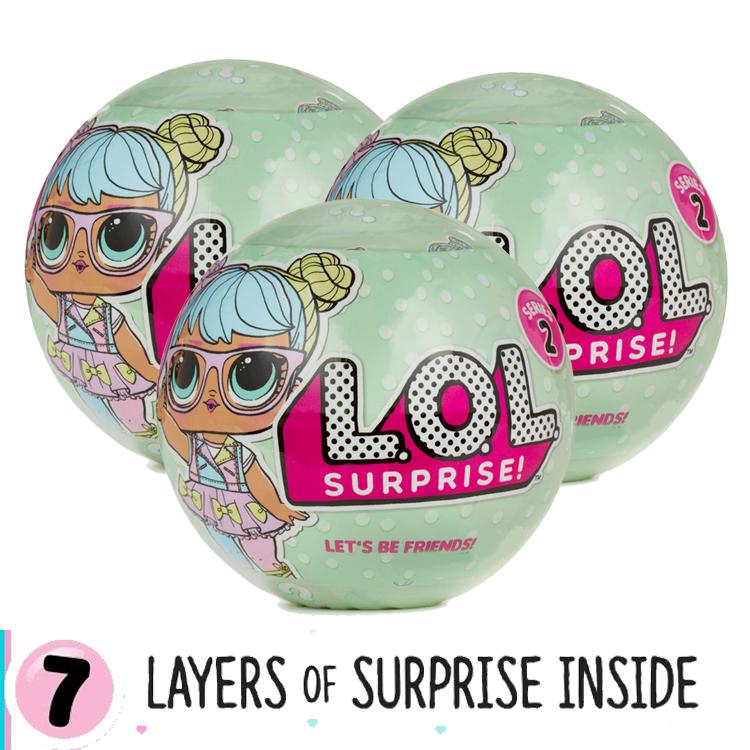 LO029 L.O.L Surprise Series 2 wave 1 ตุ๊กตาเซอร์ไพร์ส 7 ชั้น 1 แพ๊ค 3 รุ่น