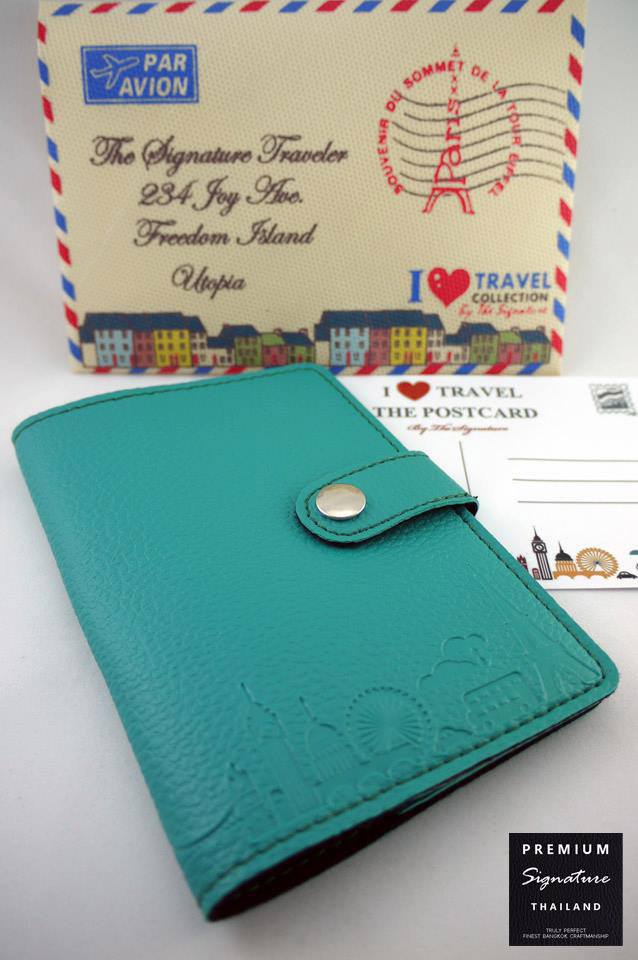Turquoise(เขียวเทควอยด์) - Passport Holder
