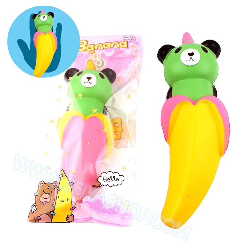 CB594 สกุชชี่ หมีกล้วย ขนาด 17 cm (Super Soft) ลิขสิทธิ์แท้