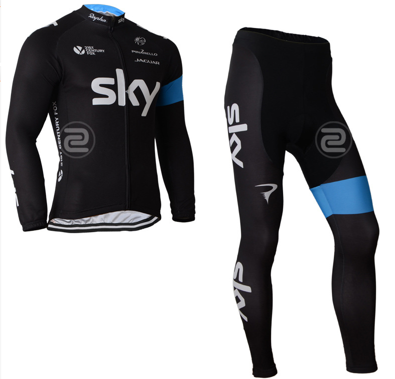 ชุดปั่นจักรยาน แขนยาว SKYเสื้อปั่นจักรยาน และ กางเกงปั่นจักรยาน