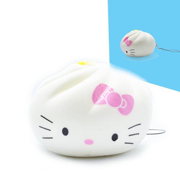 CA641 สกุชชี่ ซาลาเปา Hello Kitty ขนาด 8 cm มีกลิ่นขนม