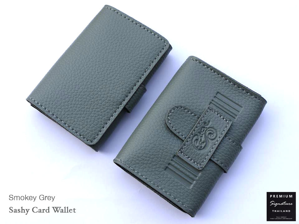 Smokey Grey(เทา) - Sashy Card Wallet