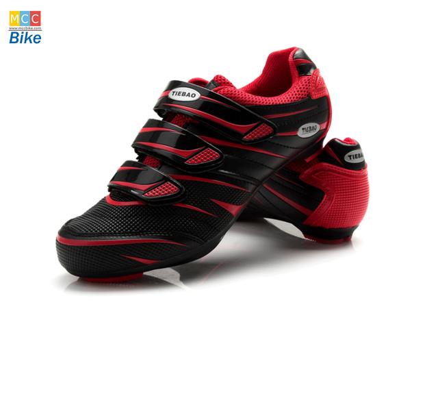 รองเท้าปั่นจักรยาน เสือหมอบ สีแดงด้าน TB36-B816A-0206