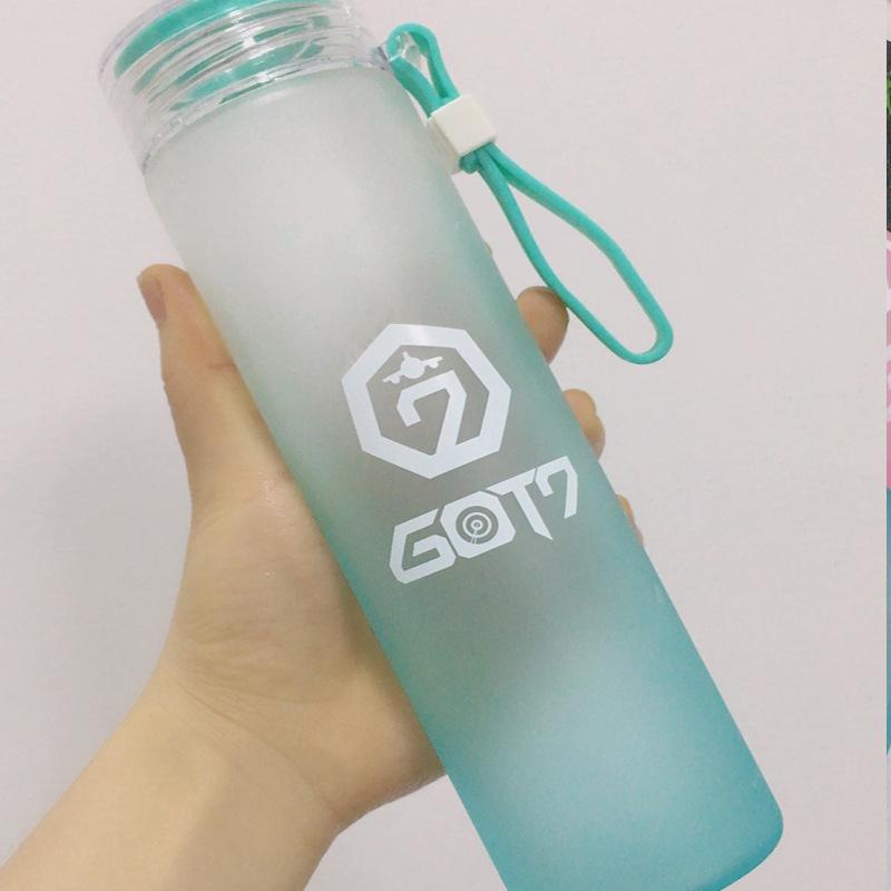 KGTX21 ขวดแก้วใส่น้ำ Got7 ของแฟนเมด ติ่งเกาหลี