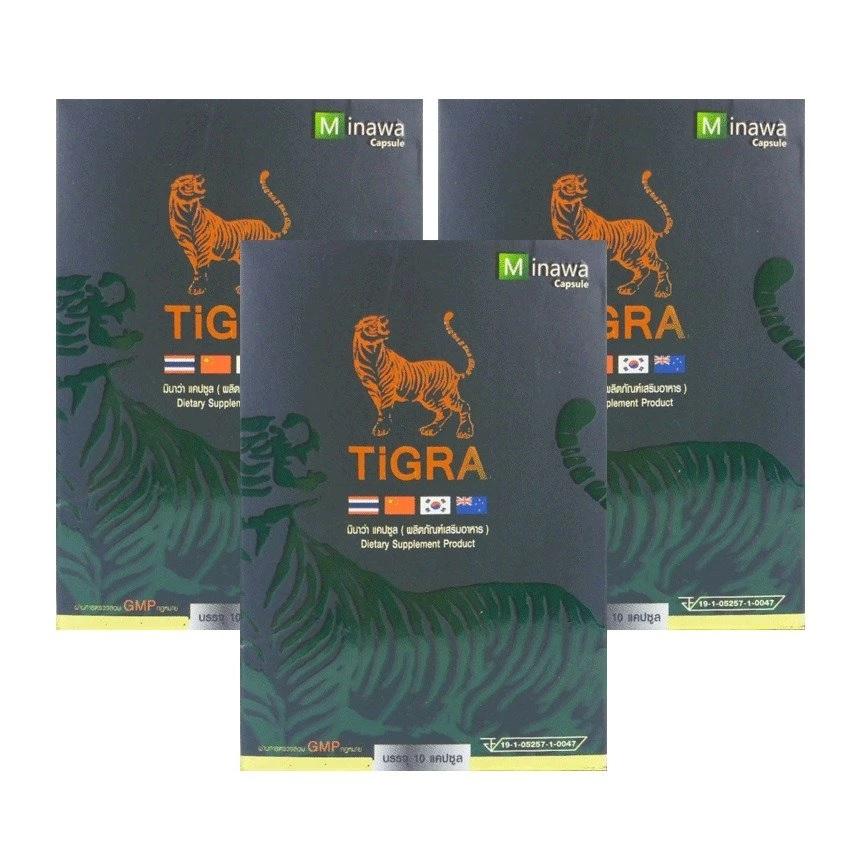 TIGRA for MEN ไทกร้า ฟอร์ เมน อาหารเสริมท่านชาย อาหารเสริมบำรุงร่างกาย 10 แคปซูล