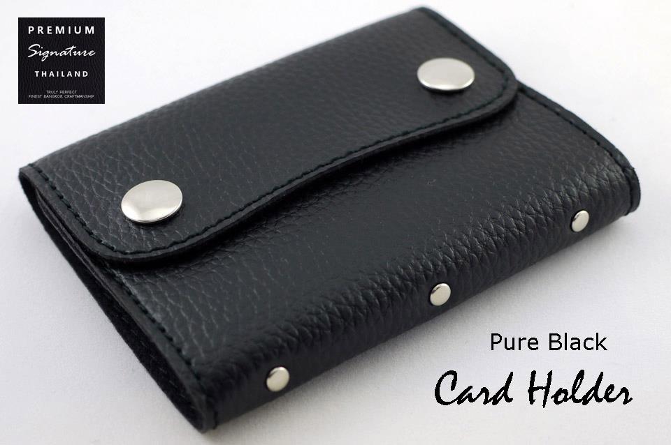 Pure Black(ดำ) - Card Holder