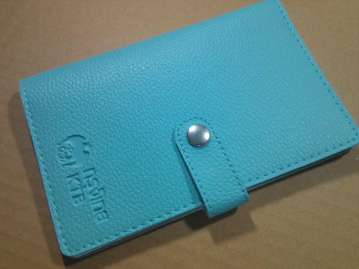 กระเป๋าใส่สมุดบัญชีธนาคารรุ่นคลาสสิก (กระดุม) ปั้มโลโก้ธนาคารกรุงไทย