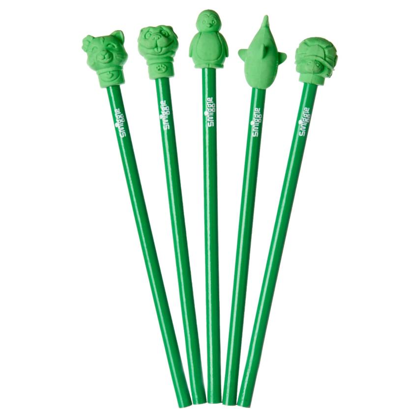 SMM027 ดินสอไม้พร้อมยางลบ (คละลาย) สมิกเกอร์ smiggle Friends Pencil