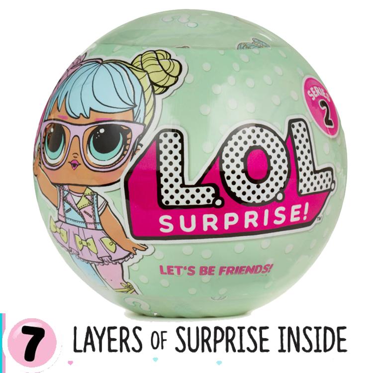 LO028 L.O.L Surprise Series 2 wave 1 ตุ๊กตาเซอร์ไพร์ส 7 ชั้น