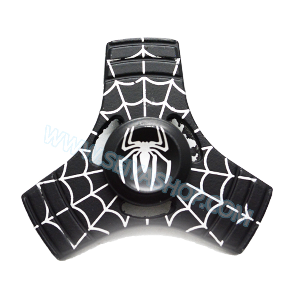 HF174 Fidget spinner -Hand spinner - GYRO (ไจโร) โลหะ starter ลาย Spiderman Black