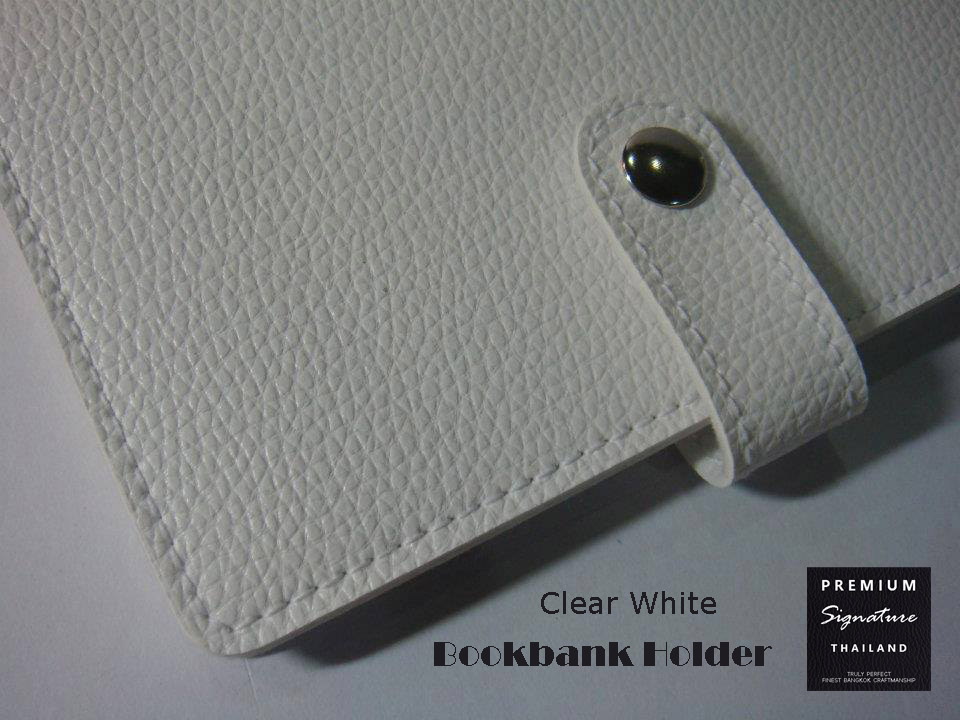 Clear White(ขาว) - Bookbank Holder