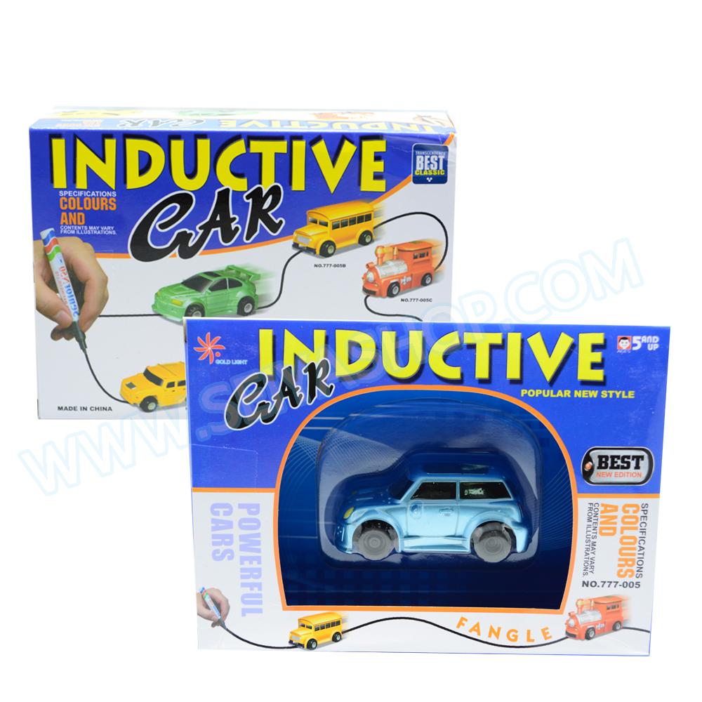 Z074 Inductive car กำหนดทิศทางด้วยการวาดเส้น รถมินิคูเปอร์ สีฟ้า
