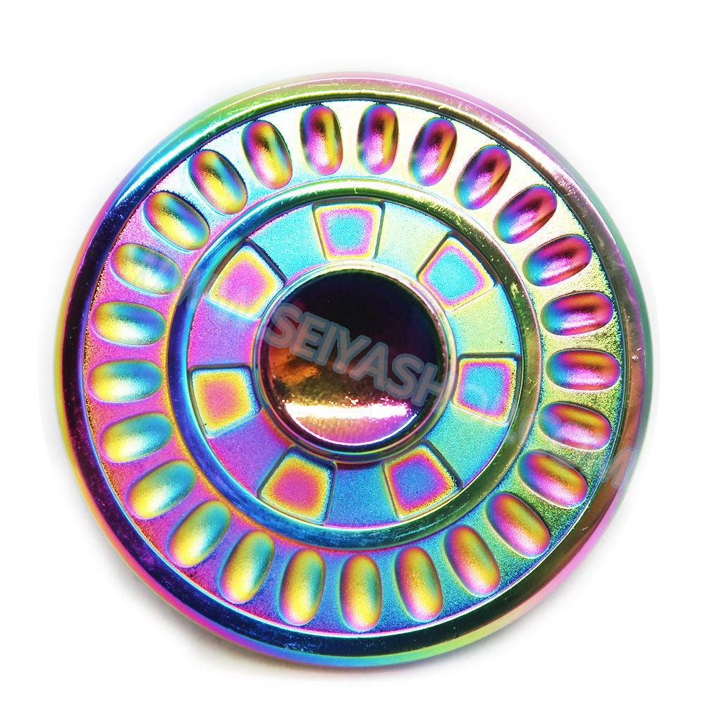 HF164 Hand spinner - GYRO (ไจโร) -Fingertip Gyroscope โลหะ สีรุ้ง