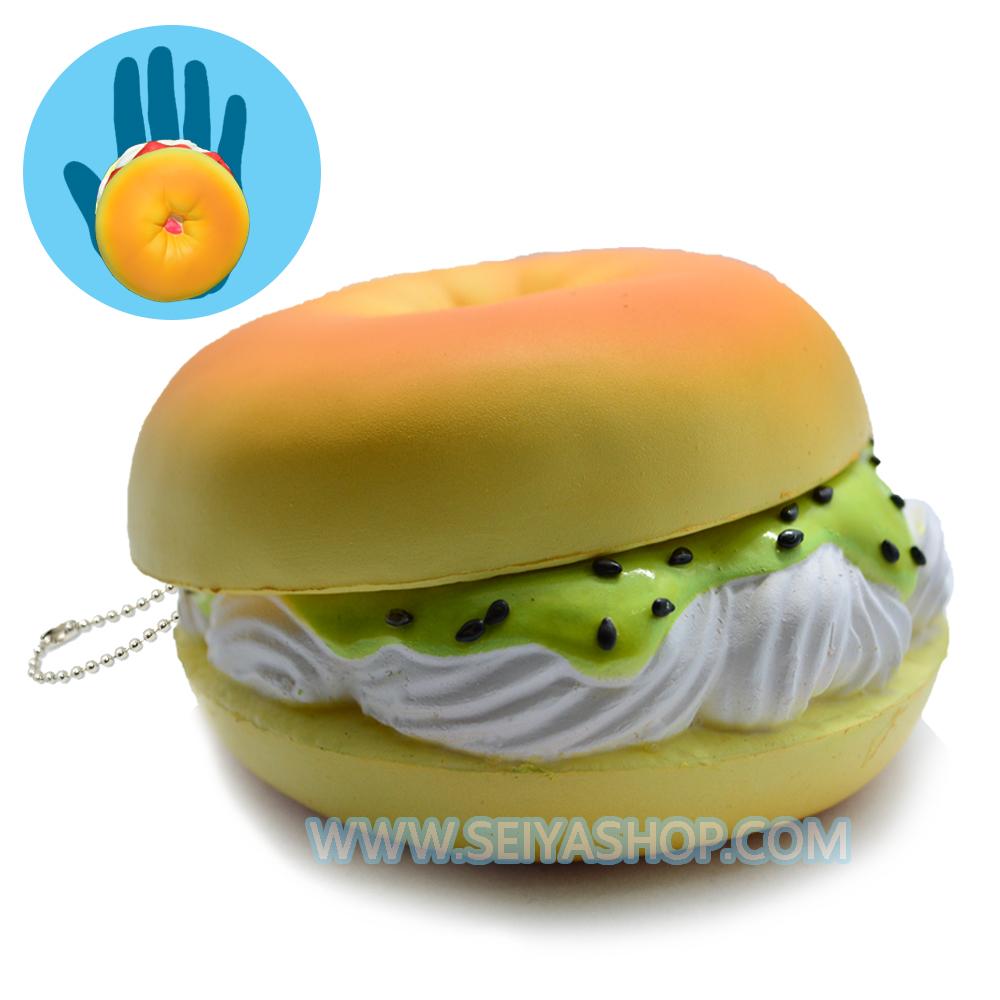 I104สกุชชี่ tokyo bakery cream cheese& kiwi(soft) ขนาด10cm.น้ำหนัก