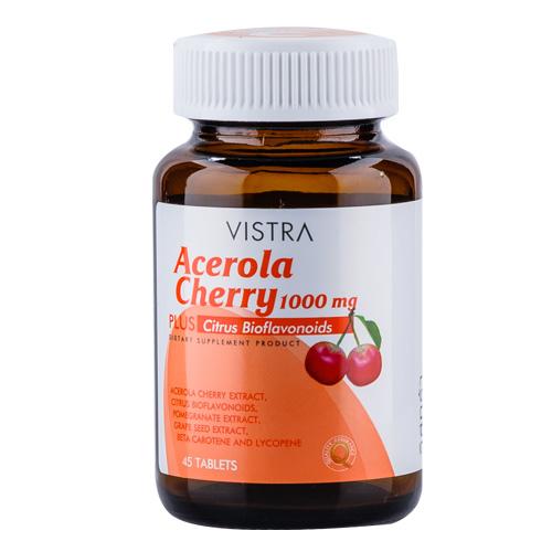 Vistra Acerola Cherry 1,000 mg วิสทร้า อะเซโรลาเชอร์รี่ ส่ง 250 บาท
